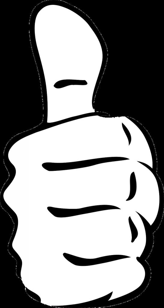 thumb, up, success